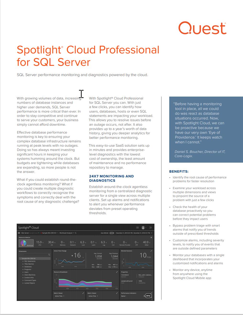 Spotlight Cloud Data Sheet