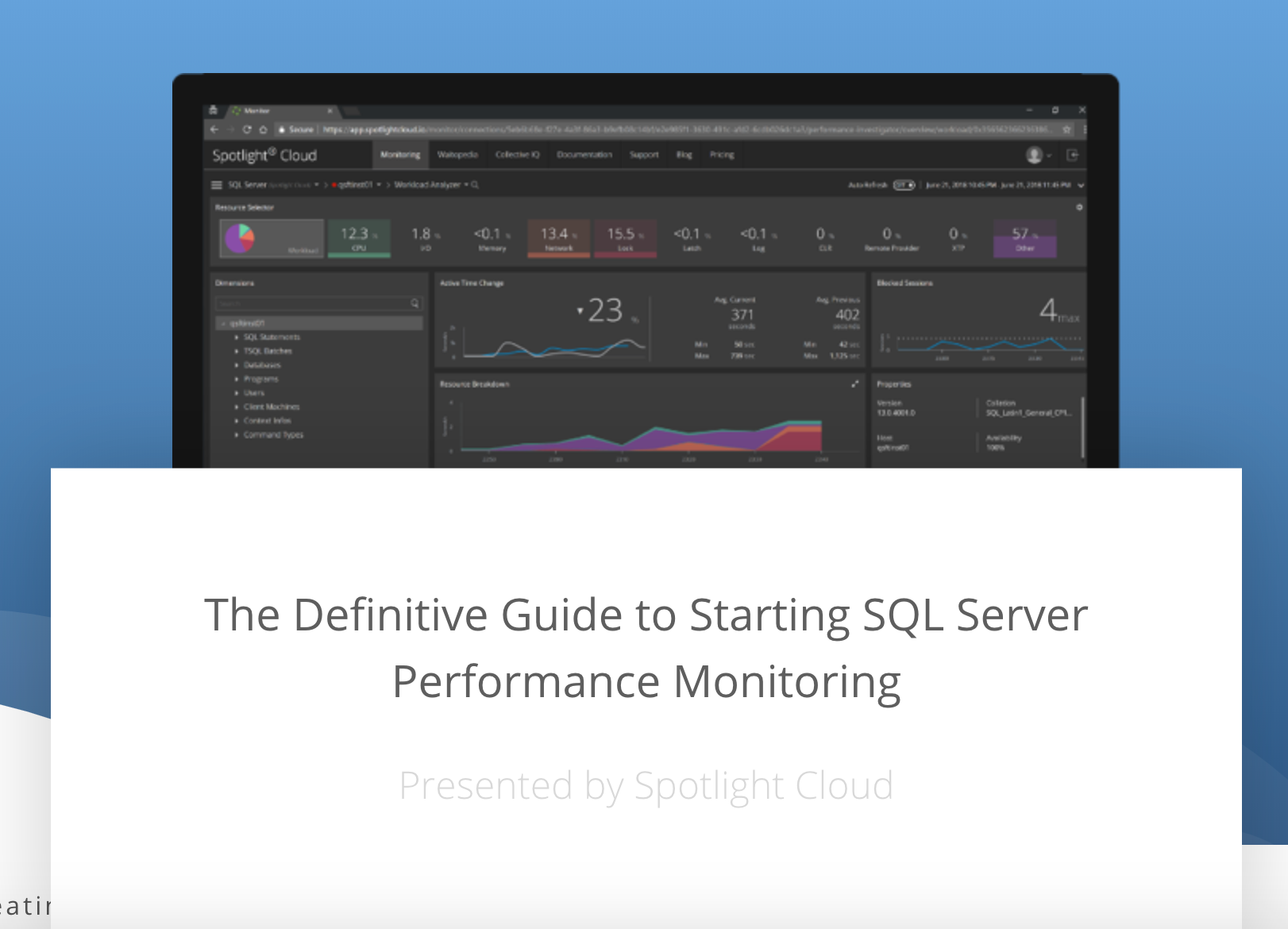 The Definitive Guide to Starting SQL Server Performance